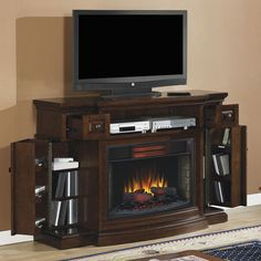 Memphis Infrared Electric Fireplace Media Console - 32IMM4787-C247