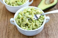 Avocado Mac and Cheese Recipe on www.twopeasandtheirpod.com  A MUST make!