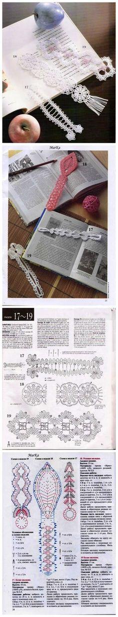 Free crochet bookmark patterns.: