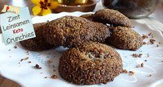 Zimt Leinsamen Keto Crunchies naschen & abnehmen. Ketogenes Diät Rezept. Low Carb High Fat (LCHF) Crunchy. Die Knabberei für deinen Keto Ernährungsplan.