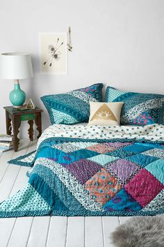 Thinking about ordering this. Plum & Bow Flora Patchwork Quilt