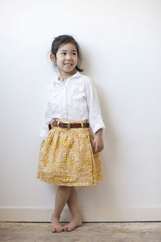 DIY: a women's skirt to a girl's skirt. I aspire to be as put together as this kid all the time. No, seriously.