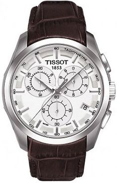 Amazon.com: Tissot Couturier Silver Chronograph Mens Watch: Tissot: Watches