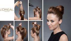 CHIGNON BOULE - Tuto #Elnett #DIY #Hair #coiffure