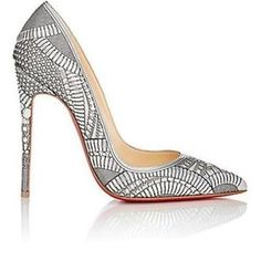 Get the must-have pumps of this season! These Christian Louboutin Silver Kristali 120 Laser Cut Patent Pumps Size EU (Approx. US Regular (M, B) are a top 10 member favorite on Tradesy. Pointed Toe Pumps, High Heel Pumps, Pump Shoes, Stiletto Heels, Cl Shoes, Sexy Heels, Metallic Pumps, Silver Pumps, Metallic Leather