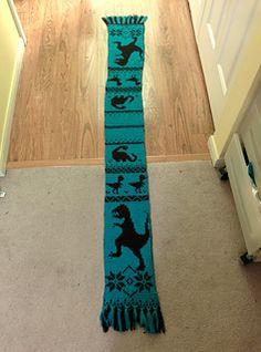 Dinosaur Scarf Knitting Pattern : Plus de 1000 idees a propos de GRILLES Tricot - CHARTS Knitting sur Pinterest...