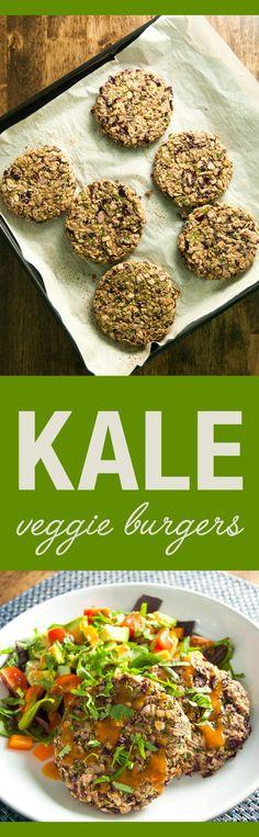 Kale Veggie Burgers | VeggiePrimer.com #vegan #glutenfree #veggieburgers