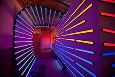 """California Surf,"" a site-specific black light art installation by Jerico Woggon. by museumofneonart, via Flickr"