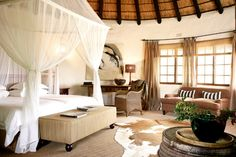 Motswari Game Lodge in the Timbavati Game Reserve Safari Bedroom, Game Lodge, Private Games, Game Reserve, Dream Apartment, Hotels And Resorts, Lodges, Relax, Interior Design