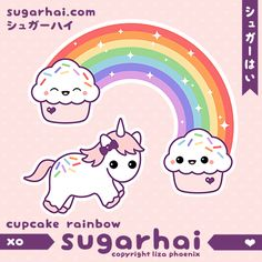 Unicorn with Cupcakes
