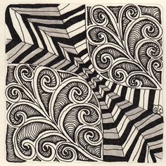 Laura Harms' weekly Zentangle challenge, week 41. Click here for info on the challenge.