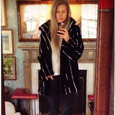 #regram @sarahharrisuk - latest mink pinstripe - a furry retake on banking life! @harrods @josephfashion @matchesfashion @stylebop #luxury #fur #exclusive #instacool #mink #lillyevioletta