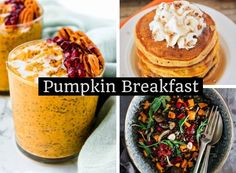 Try these 10 Amazing Pumpkin breakfast recipes that are full of flavor, nutrition and delicious. These breakfast are easy to make and full of goodness. Healthy Lunches For Kids, Healthy Toddler Meals, Healthy Snacks, Toddler Food, Healthy Life, Chai Pudding, Pumpkin Breakfast, Cleanse Recipes, Pudding Recipes