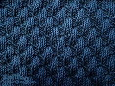 Left Diagonal pattern    Knit and Purl stitch Combinations