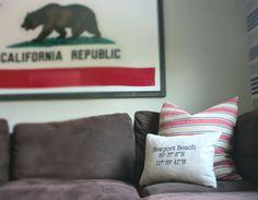 Newport Beach custom nautical pillow    Decor Ideas   Home Design Ideas   DIY   Interior Design   home decor   Coastal living