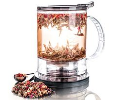 PerfecTea Maker.  My grandson gave me this along with the German rock sugar and several teas from Teavana.  Although expensive, we love their teas!