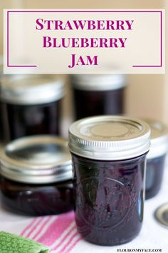 How To Make Strawberry Blueberry Jam Strawberry Blueberry Jam recipe is one of my favorite flavors of homemade jam. Mixed berry jam has a delicious flavor and takes great on vanilla ice cream. Strawberry Blueberry Jam, Strawberry Jam Recipe, Blueberry Jam Recipes, Homemade Strawberry Jam, Strawberry Jelly, Mixed Berry Jam, Mixed Berries, Mix Berry, Oxtail Recipes
