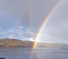 Reflection Rainbow, Loch Dunvegan, Isle of Skye.