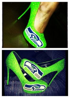 #football #season is back! Save 20% with code #kickoff2015 at checkout on 65.00 purchase and up love this bright gorgeous color I did for a customer  www.etsy.com/shop/CeriseIsabellaMarie  #love #sports #custom #handpainted #neon #green #Seattle #Seahawks #sexyheels are always #betterthanaglassslipper #fashion #instagood #instalike #LOB #12thman #kcco #bluefriday on a #Saturday