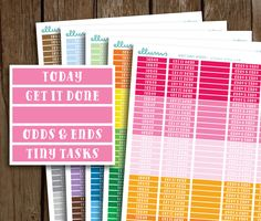 Bright Quirky Header Planner Stickers | PRINTABLE Instant Download | MDN Header Stickers | Blank Headers | Erin Condren MAMBI Happy Planner by ellums on Etsy
