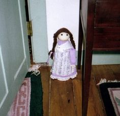 The doll in Captain Grant's House - This doll is actually a sand filled weight used as a door stop in the Adelaide Room.  It has a strange habit of disappearing and then showing up in the weirdest spots around the inn. Other objects in this room have done the same, including a bottle of window cleaner that went missing in the blink of an eye and then turned up weeks later...