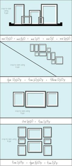 How To Display Photographs On a Wall: Photo Wall Ideas Learn how to create a photograph display, with pictures of arrangements, tips, and ideas on how to design the best picture wall for your space. Make your photo wall pop! Photowall Ideas, Photo Arrangement, Picture Arrangements On Wall, Frame Arrangements, Photo Grouping, Photograph Wall Display, Picture Groupings, Wall Groupings, Frame Layout