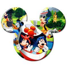 Cabezas de Mickey con personajes Disney y no Disney.
