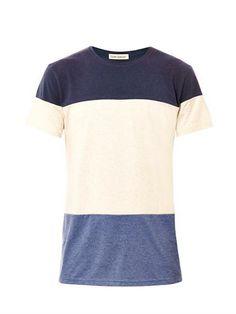 Stripe panel T-shirt | Oliver Spencer | MATCHESFASHION.COM