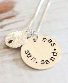 Hand Stamped Beach Quote Necklaces: http://beachblissliving.com/hand-stamped-beach-quote-necklace/