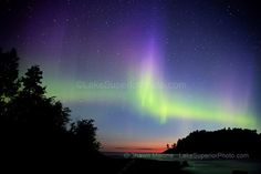 Northern Lights Upper Michigan, Lake Superior, Little Presque Isle