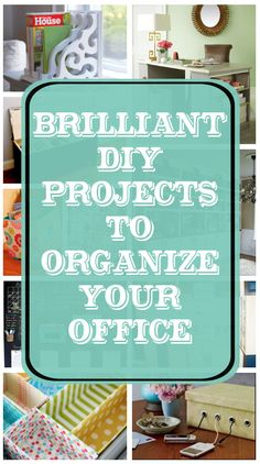 diy home sweet home: Brilliant DIY Projects to Organize your Office