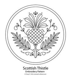 thistl design, embroidery patterns, thistle embroidery pattern, surfac embroideri, embroideri pattern, scottish thistl, embroidery thistle, embroidery stitches, embroidery designs
