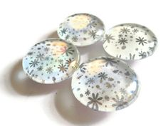 Glass Marble Magnets Large Black and White by MadebyMegToo on Etsy, $10.00