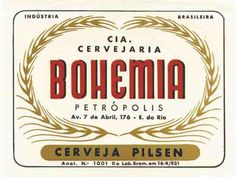 Bohemia beer label