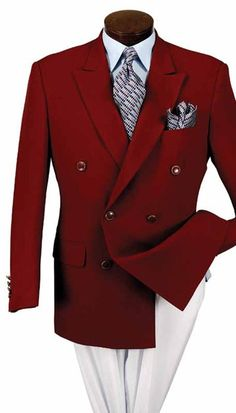 Vittorio St. Angelo Mens Double Breasted Blazer Z762TA