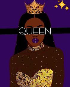 Black Girl Cartoon, Black Girl Art, Black Women Art, Black Art, Black Girl Magic, Art Girl, Black Aesthetic Wallpaper, Black Girl Aesthetic, Drawings Of Black Girls