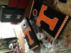 Tennessee Vols cornhole boards