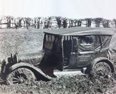 Muddy roads made farm visits nearly impossible during the spring of 1920 for the Stark County Farm Bureau. They made 685 farm visits that year.