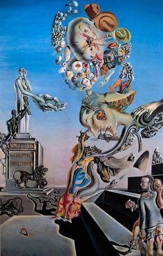 Salvador Dali    Yas Oyunu / The Lugubrious Game    1929. Mukavva üzerine yağlıboya ve kolaj. 44.4 x 30.3 cm. Private Collection.