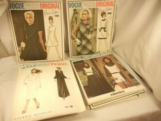 10 VINTAGE VOGUE Patterns Vogue Paris Originals Vogue Pattern Vogue Couturier end 19.95+13.45 11/9/15 used error