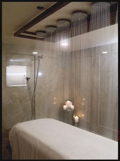 Rain room!  ONE Spa at luxury hotel Shutters on the Beach - Santa Monica, California.