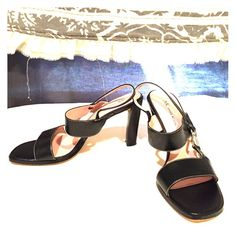 *Anne Klein* black leather heels  (7.5) *Anne Klein* black leather heels. Worn once or twice! Need a new home! Anne Klein Shoes Heels