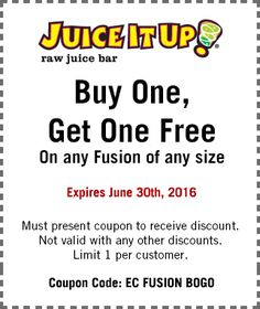 Pinned June 9th: Second fusion #FREE at #JuiceItUp #TheCouponsApp