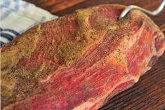 Recept na sušenú krkovičku? Zvládnete to aj vy (coppa) Flank Steak, Challah, Brisket, Food 52, Meatloaf, Pork, Food And Drink, Homemade, Dishes