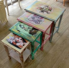 Ahşap boyama fikirleri diy and crafts декупаж мебель, декупаж ve мебель.