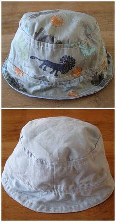 Perfect boys sun hat tutorial...obviously could work for girls too. need to turn on translator for this one.