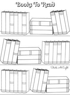 FREE Printable Books To Read (Bullet Journal) ) Log. Planner insert sheet. 8.5x11 US Letter paper size. JPG.