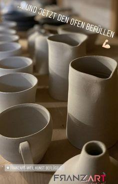 ... und jetzt den Ofen befüllen. Steinzeug, Handmade with Love ♥️ #handmadepottery #töpfernmachtglücklich Shops, Tableware, Stoneware, Coffee Cups, Tablewares, Tents, Dinnerware, Retail, Dishes