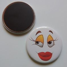 Badge 56 mm - expression -  magnet,épingle adhesif