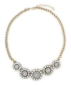 Another great find on #zulily! Clear Crystal & Goldtone Bree Necklace #zulilyfinds